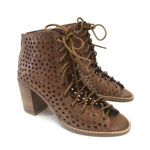 Jeffrey Campbell Cors Star Lace Up Booties